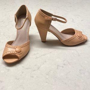 NWOT Restricted Pink Peep Toe Heels